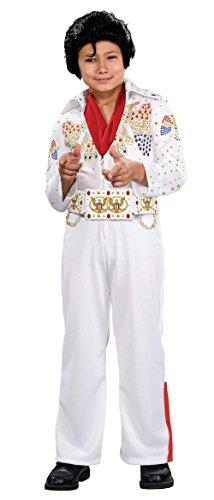 883481 (4-6) Elvis Aloha Child Costume White
