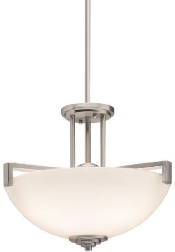 Kichler 3797NI Eileen Pendant/Semi-Flush 3-Light, Brushed -