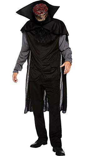 Mens Creepy Gross Headless Horseman Sleepy Hollow Legend Halloween Fancy Dress Costume Outfit M-XXL -