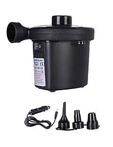 besbomig Bomba de Aire Electrica con 3 Accesorios Bomba de Aire para Colchones de Aire, Botes Inflables, Juguetes de Inflado: Amazon.es: Jardín
