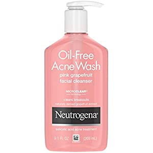 Neutrogena Oil-free Salicylic Acid Pink Grapefruit Pore Cleansing Acne Wash and Facial Cleanser With Vitamin C, 9.1 Ounce