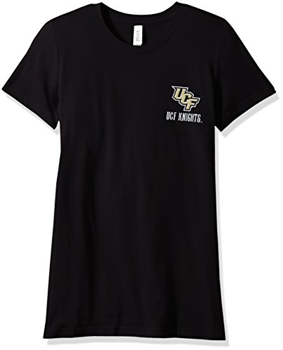 NCAA Central Florida Golden Knights Women's Double Pattern Scroll Favorite Short sleeve T-Shirt, Small,Black - Central Florida Baseball