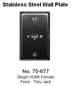Stainless Steel Wall Plate with One HDMI Female Connector - Philmore 75-677