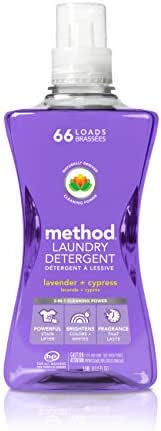 Method Concentrated Laundry Detergent, Lavender + Cypress, 53.5 Ounce, 66 Loads