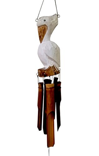 Cohasset Gifts | | | # 115PS | Cohasset Mini Pickford Pelican Bamboo Wind Chime Approximately 8