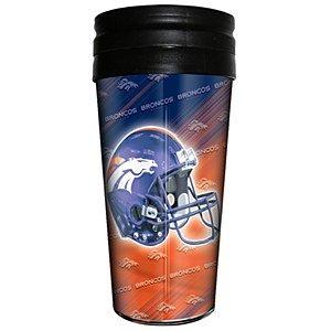 NFL Denver Broncos 3D Metallic Thermal Mug, 16-ounce (Dallas Cowboys Thermal Mug compare prices)
