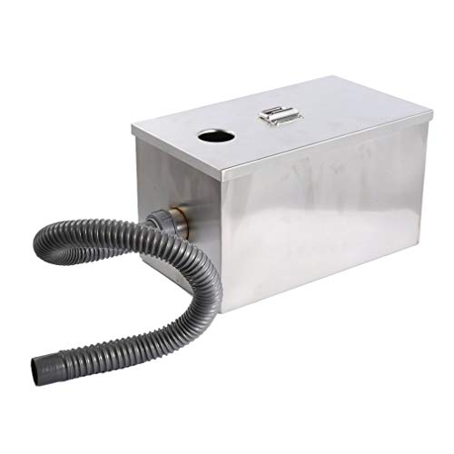 Restaurant Grease - Commercial Grease Trap Interceptor Stainless Steel 8LB 5GPM Gallons Per Minute for Restaurant Kitchen
