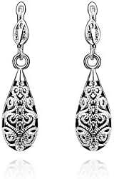 TANGMI® Gold Plated 18K Teardrop Dangle Earrings Retro Dangling Earrings