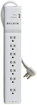 Belkin 7-outlet 2320-joules 12ft cord emi/rfi rj11 surge protector - NEW - Retail - BE107200-12