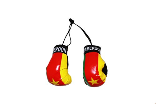 Cameroon Country Flag Mini Boxing Gloves..New