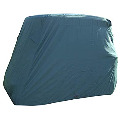 "Deluxe 4 Passenger Golf Cart Cover roof 80"" L (Grey, Taupe, or Green), Fits E Z GO, Club Car and Yamaha G Model - Fits GEM e2 from bondvast"