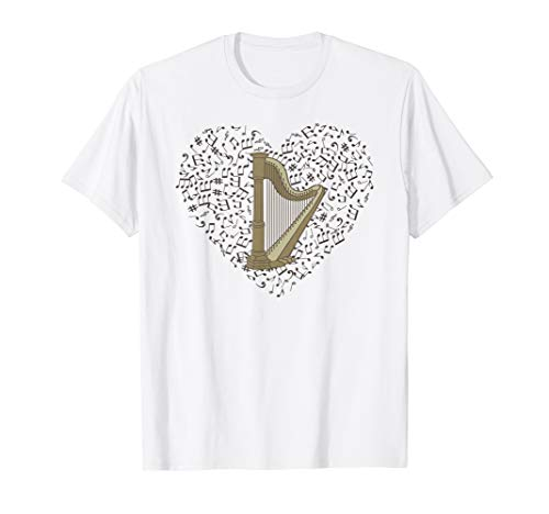 Harp T shirts - Gifts for harp players (Best Harp For Beginners)