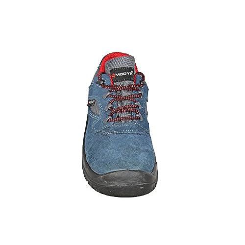 Modyf - Calzado de protección de Piel para hombre, Gris - gris, 40 EU