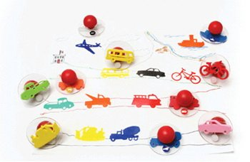 Center Enterprise CE6737 READY2LEARN Set 1 Giant Transportation Stamps (Pack of 10)