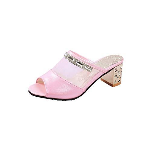 Femmes pour Gaze Pink À Grossière Les Sandales YUCH Chaussures des Portent q7w4gT