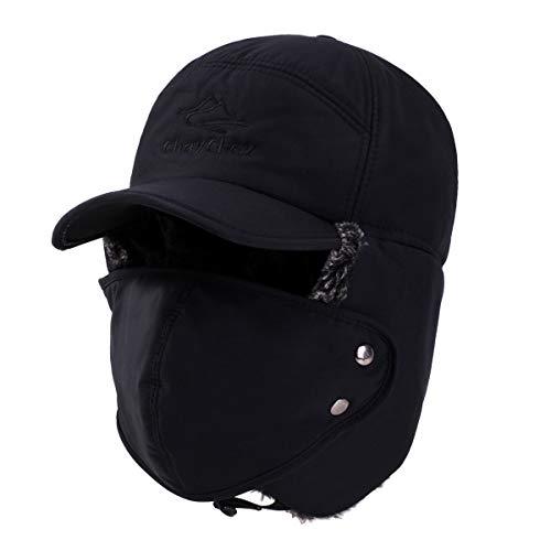- ChayChax Unisex Warm Winter Trooper Trapper Hat Faux Fur Hunting Aviator Ski Hat