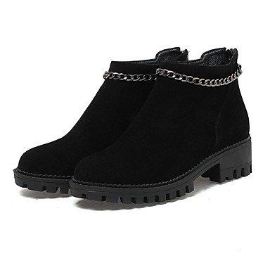 RTRY Zapatos De Mujer Invierno Materiales Personalizados Confort Botas De Nieve Botas De Montar Botas De Moda Botas De Combate Ligero Soles Botas De Tacón Bajo El Talón Plano US5.5 / EU36 / UK3.5 / CN35