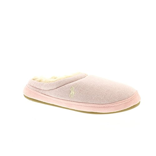 RALPH LAUREN Womens Pink Polar/Cream jacque Slippers-UK - Lauren Ralph Womens Uk