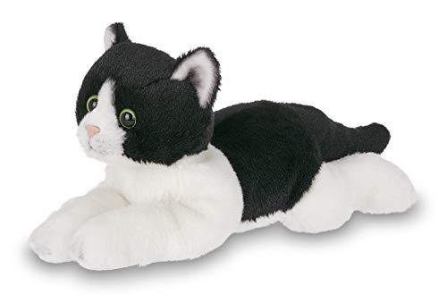 (Bearington Lil' Domino Small Plush Stuffed Animal Black and White Tuxedo Cat, Kitten 8 inches)