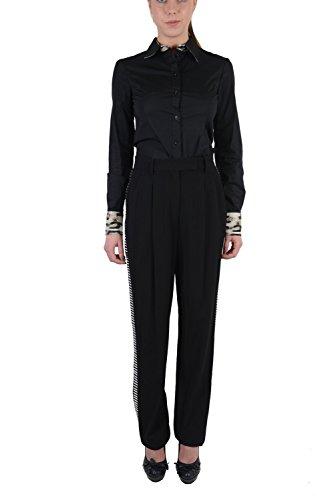Viktor & Rolf Women's Black Tuxedo Style Tiny Mirrors Decorated Pants US 8 EU 44 by Viktor & Rolf