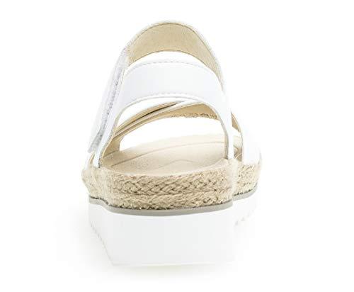 best piattaforma Donna platform Gabor 728 Con scarpe Fitting sandali piatta confortevole Zeppa 23 Estate Weiss Di O0xAqwRU