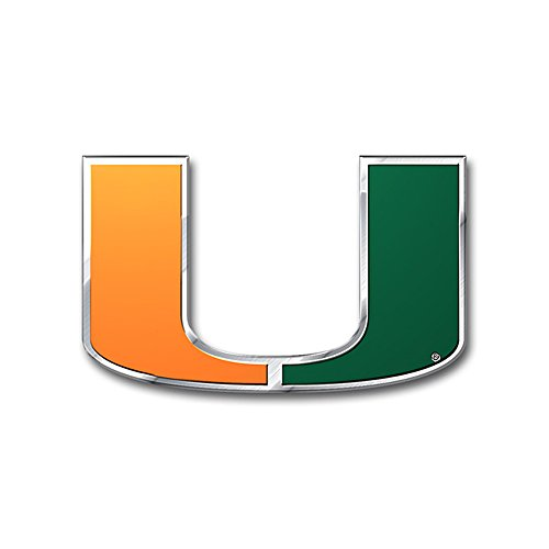 University of Miami Hurricanes College NCAA Collegiate Sports Team Logo Car Truck SUV Motorcycle Trunk 3D Color Emblem