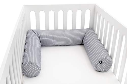 Julius Zöllner 8281069320 nestslang voor babybed, 180 cm diameter 14 cm, jersey-katoen, standaard 100 by Oeko-Tex, grijs…