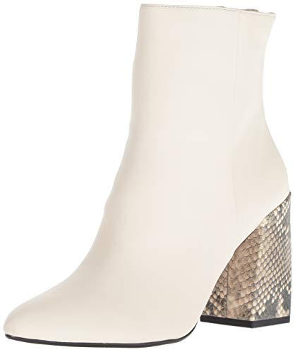 Dolce Vita Women's COBY Ankle Boot, Off White Leather, 8.5 M US