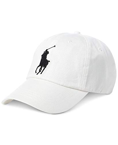 Polo Ralph Lauren Mens Chino Signatue Ball Cap, One Size White