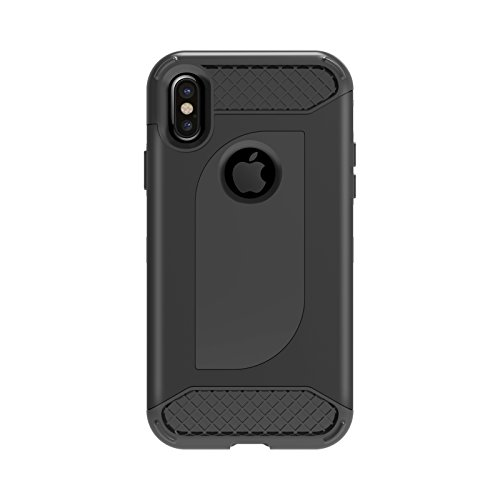 iPhone X case, Supore 2 in 1 Ultra-Thin Hard Shockproof Full-Body Protective Case with Dual Layer