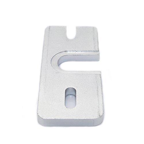 Puuli 3D Printer Accessory Reprap Hot End Aluminum Mount Plate For Makergear J-head Or DIY Hot End Prusa oxidation Treatment( 2 Pcs )