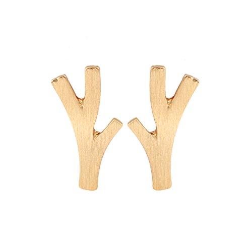 Gold silver Branch Earrings , Twig Earrings , Leaf Earring , Tree Earrings , Branch Jewelry (Gold) - Twig Tree Jewelry
