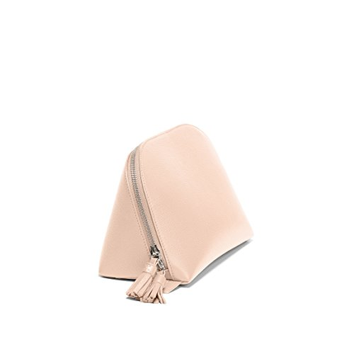1ebf152d80 Jual Large Clamshell Makeup Bag - Full Grain Leather Leather - Rose ...