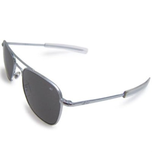 AO Eyewear Original Pilot Sunglasses 55mm Gray Polarized Optical Glass Lenses made in New England