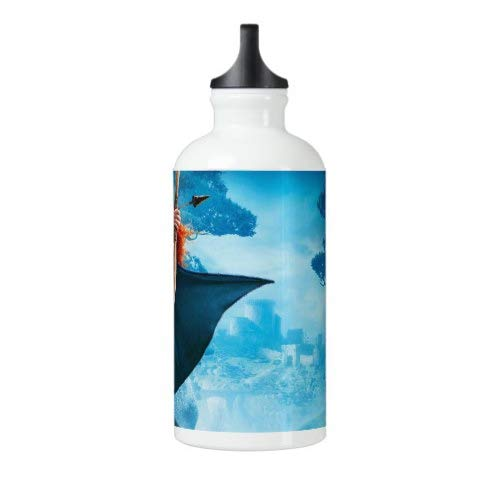 Steel Bottle for Water Brave Sport Bottle Outdoor Yoga Camping Hiking Pixar Cycling Bottle Brave Water Bottle 18 Oz Travel Flask Stainless Steel