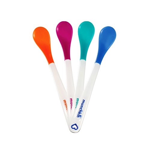 Munchkin White Hot Infant Safety Spoons, 4 Count