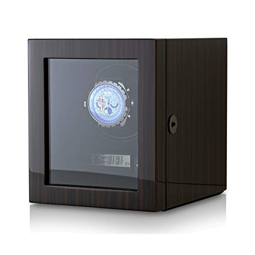 (Watch Winder for Men's and Women's Watches with LED Backlight and LCD Display (Macassar) )