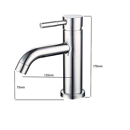 Qkefegfkgr 304 Stainless Steel Mirror Basin Mixer, hot and Cold Mirror Basin Mixer, Stainless, Antibacterial (Integral Forming) (Color : -, Size : -) by Qkefegfkgr (Image #3)