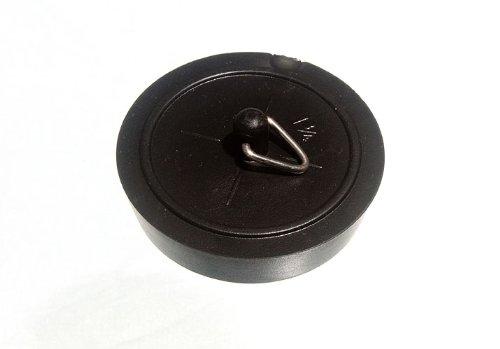100 X Bath Plug Black 44Mm 1 3/4 Inch by DIRECT HARDWARE