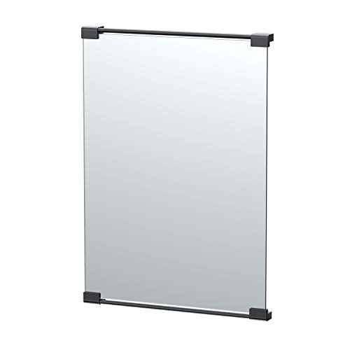 Mount Black Fixed - Gatco Fixed Mount Rectangle Mirror 30 Inch Matte Black