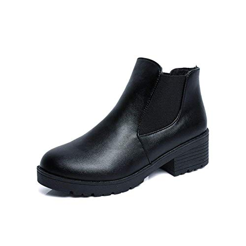 Eu Boots Bouth Pu Basse 35 Casual Sed Ladies Elastic Scarpe nero Eu Con Quotidiane 37 w6XxSTSq5