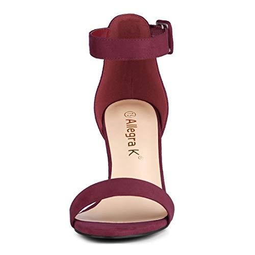 214d364309 Allegra K Women's High Chunky Heel Buckle Ankle Strap Sandals 85%OFF ...