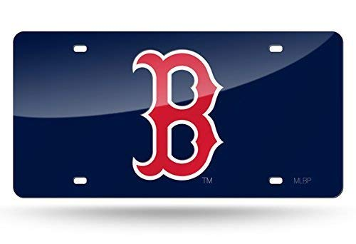 Boston Red Sox Parking Sign - Aiden Eletina MLB Color Laser Cut Auto Tag