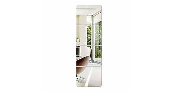 Espejo Cuadrado de Pared Rectangular, calcomanía de Pared con Espejo de Cristal 3D y murales para la Sala de Estar Dormitorio Deco LDJ0517 (Tamaño : 22cm×22cm): Amazon.es: Hogar