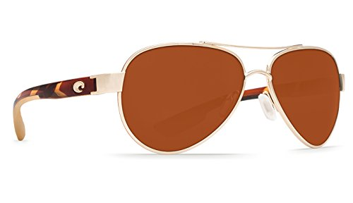 Costa Del Mar LR64OCP Loreto Sunglass, Rose Gold - Womens Del Mar Costa