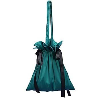 TOOGOO Pleated Fringed Drawstring Handbag Ladies Pu Leather Shoulder Bag Ladies Fashion Messenger Bag Green