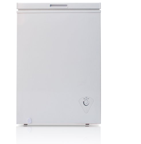 Midea HS-129C Single Door Chest Freezer, 3.5 Cubic Feet, White