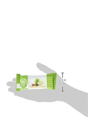 BHU Foods Fit Vegan Protein Bar, Apple Chunk Cinnamon Nutmeg, 12 Count