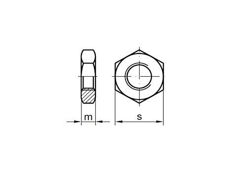 Feingewinde 25 Stk DIN 439 Sechskantmuttern flach M10x1 Edelstahl