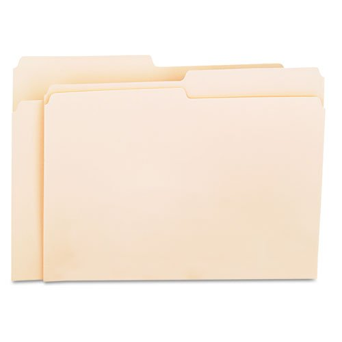 Single Folders Manila Top (Universal Products - Universal - File Folders, 1/2 Cut, One-Ply Top Tab, Letter, Manila, 100/Box - Sold As 1 Box - Classic folder constructed to resist tearing. - Bottom triple-scored for no-sag expansion. - Undercut at tabs for increased indexing area. - 11 pt. Manila. -)